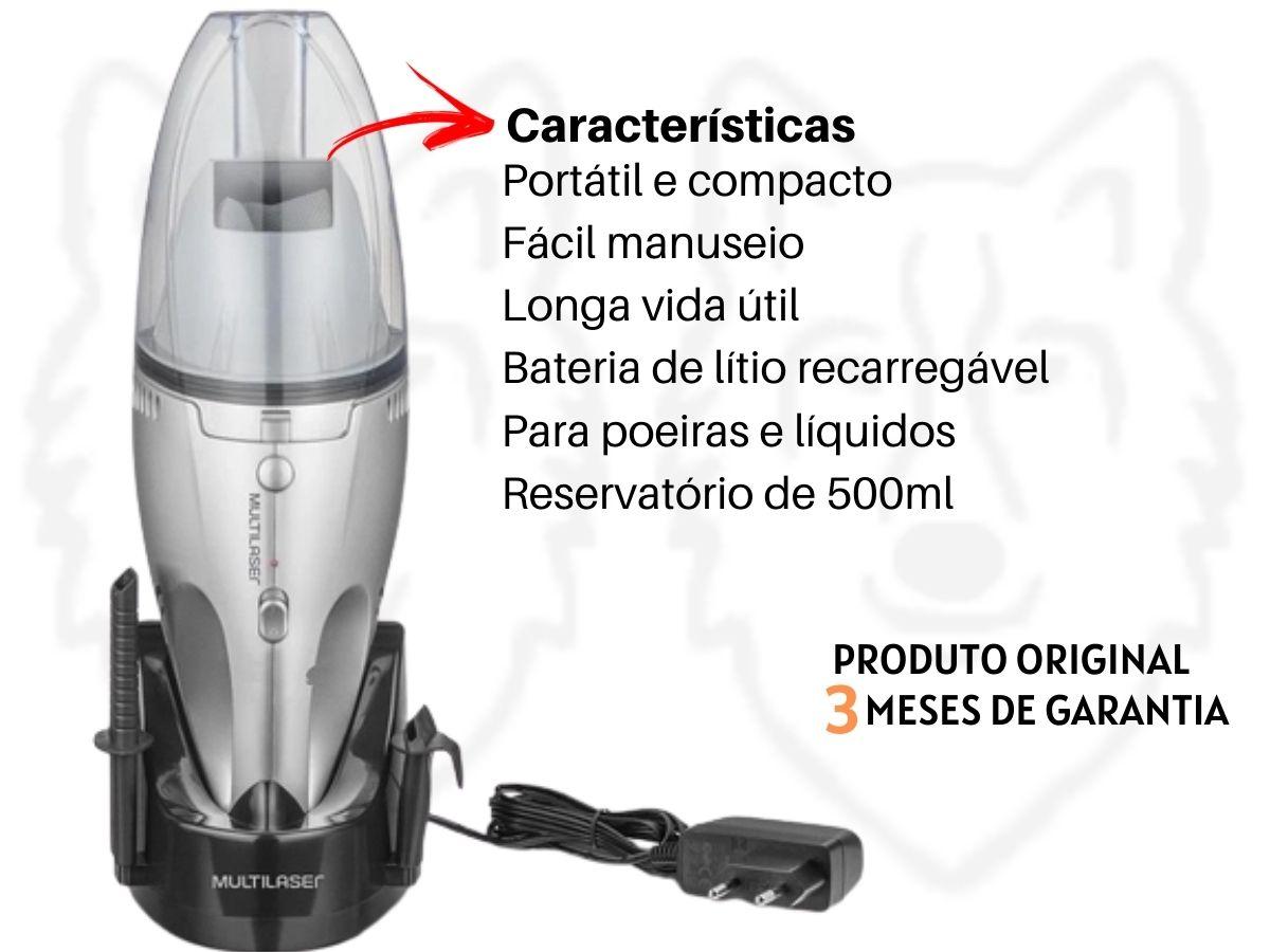 Aspirador De Pó E Líquidos Multilaser Ho082 Sem Fio 500ml