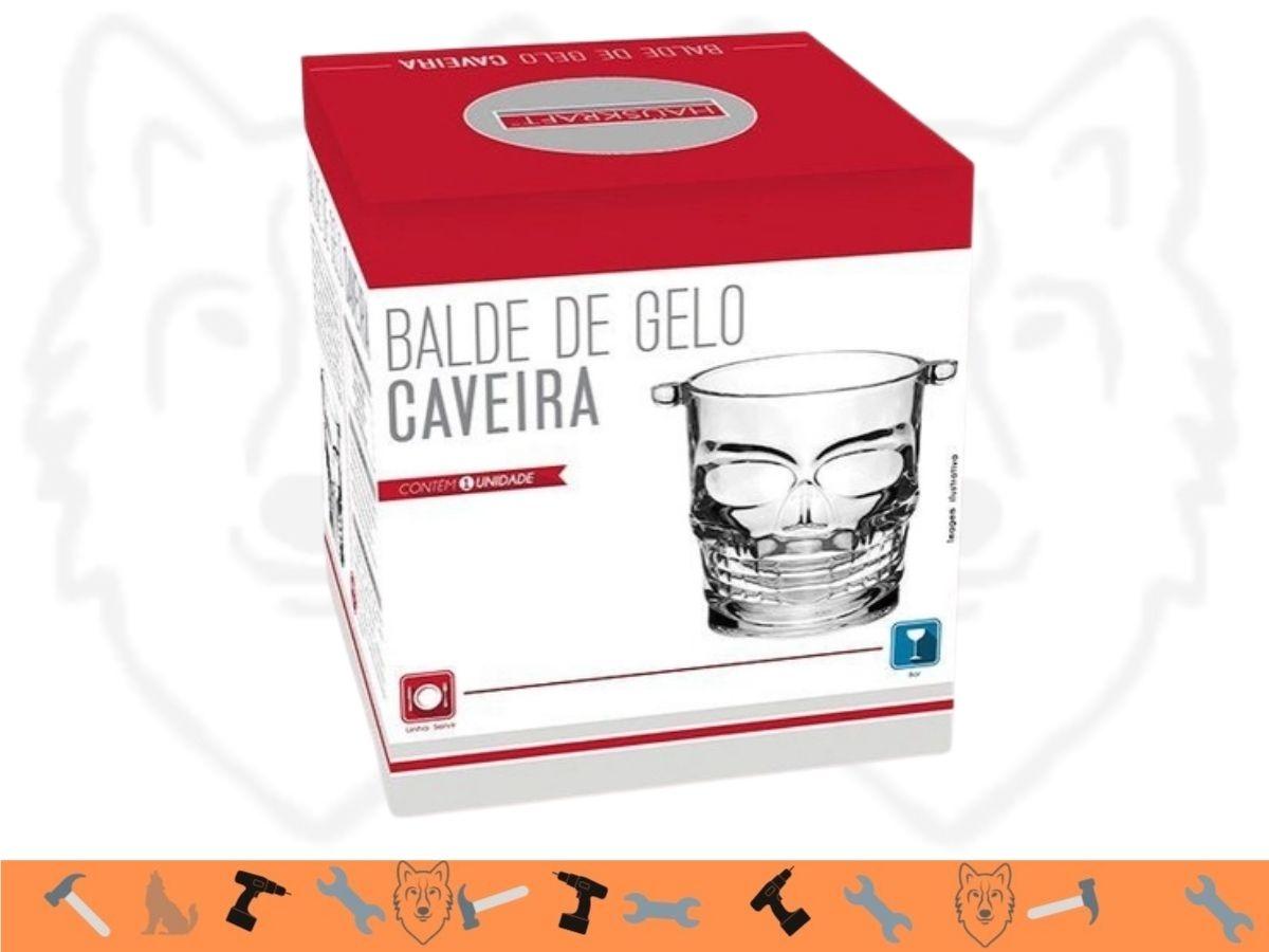 Balde de Gelo Hauskraft Caveira BGLO-004 Vidro
