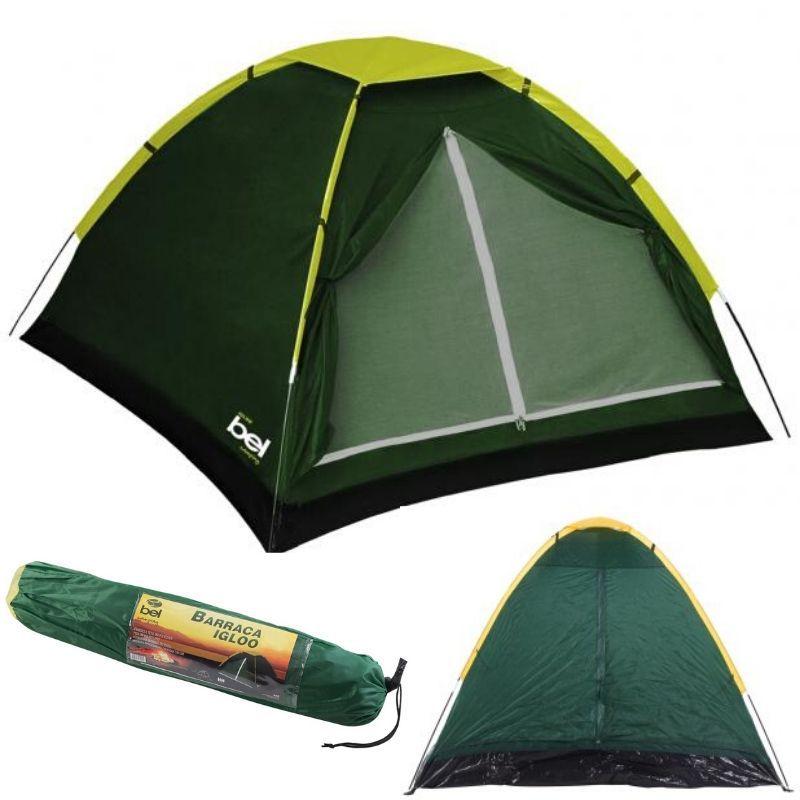 Barraca Tenda Cabana Bel Camping Igloo 2 Verde 2 Pessoas