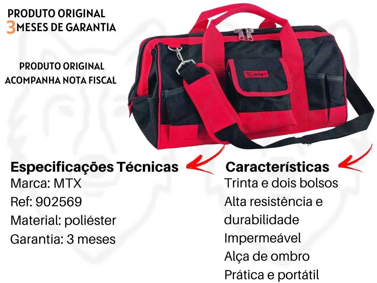 Bolsa Porta Ferramenta MTX 902569 32 Bolsos 18 Pol.