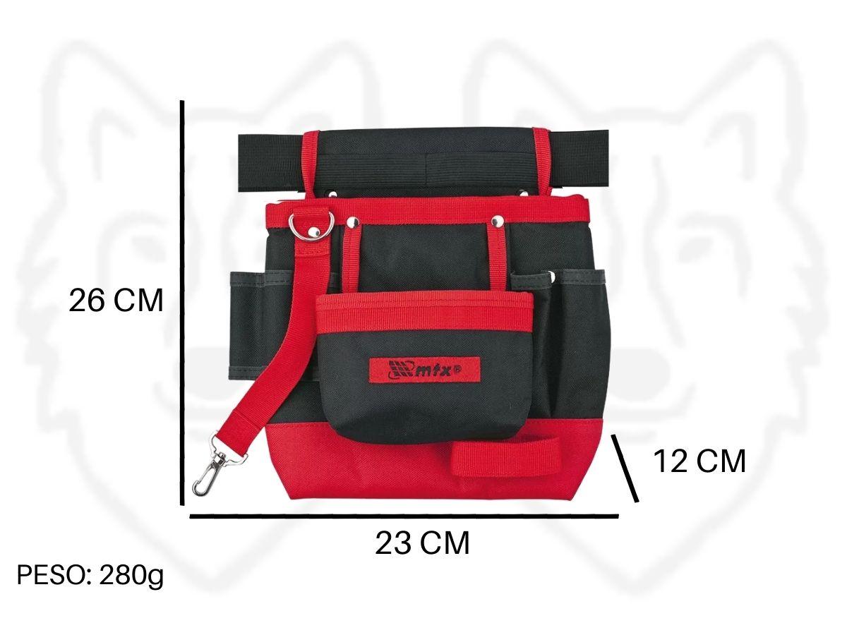 Bolsa Porta Ferramentas Com Cinto MTX 902419 7 Bolsos