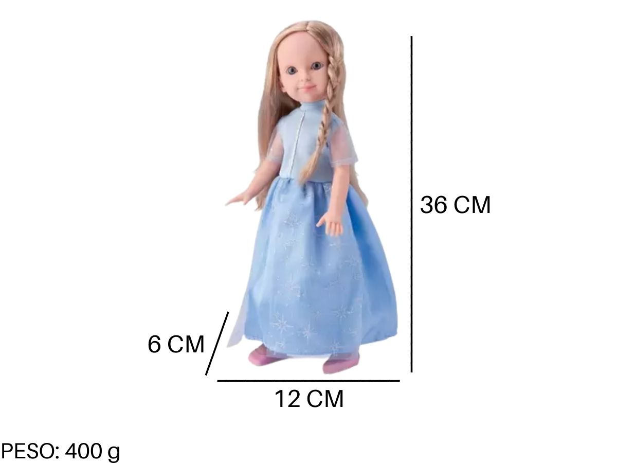 Boneca Infantil Feminina Princesa Bambola 681