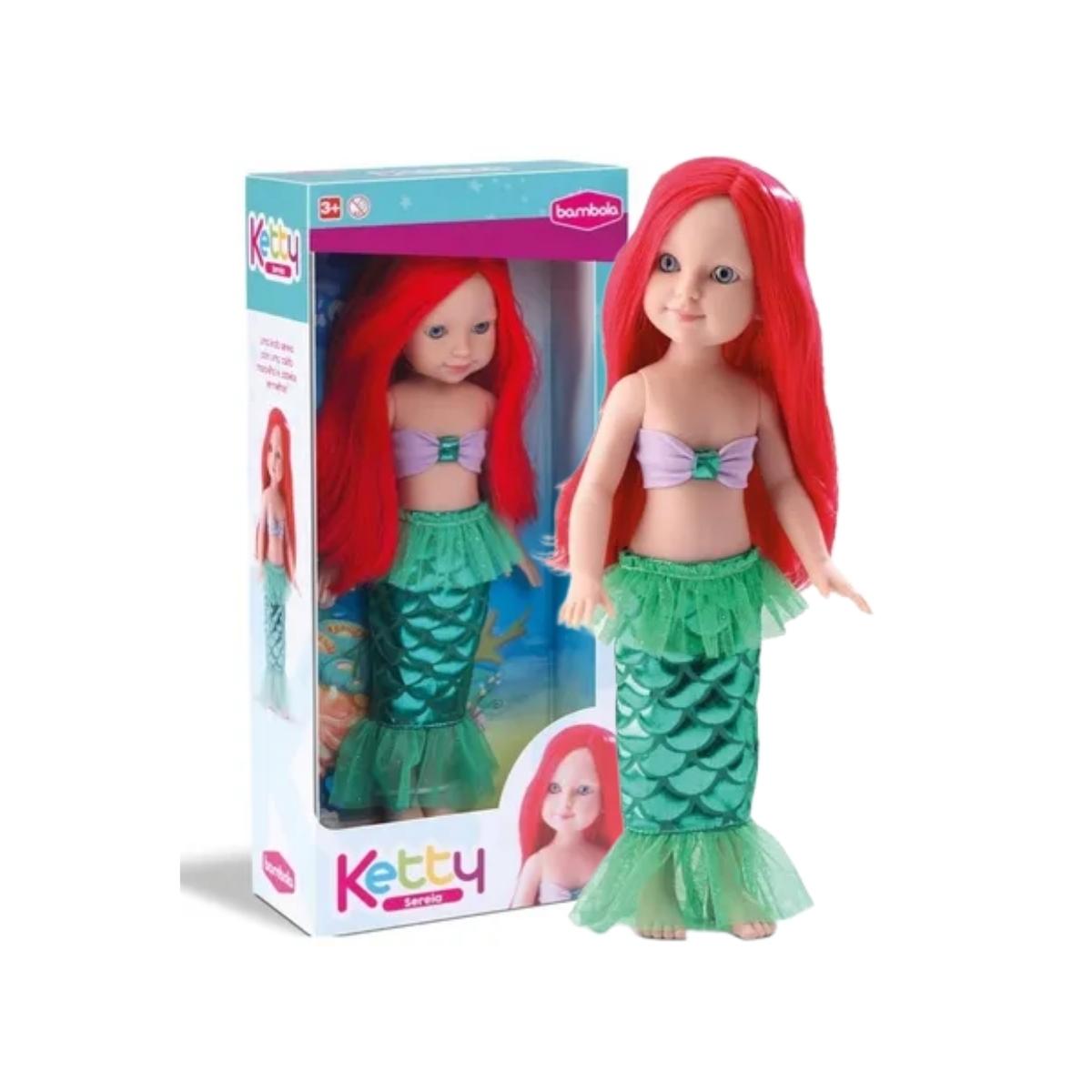 Brinquedo Boneca Ketty Sereia Bambola 679 + 3 Anos