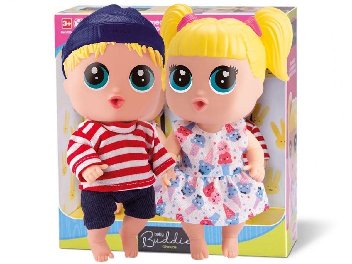Brinquedo Bonecos Babybudd Gêmeos Bambola 0697