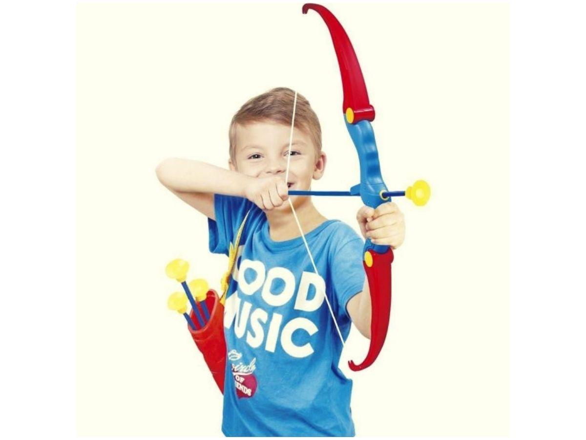 Brinquedo Kit Arco e Flecha Com Alvo Bel 490600 3 Flechas