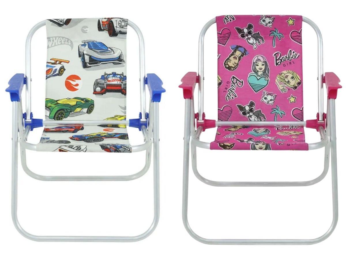 Cadeira De Praia Infantil Dobrável Bel Desenhos Famosos