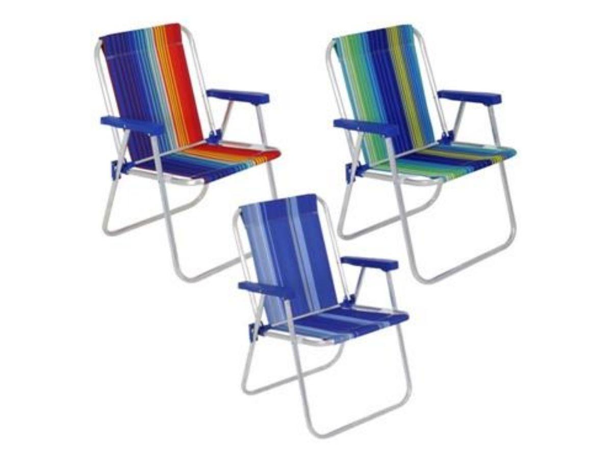 Cadeira De Varanda E Praia Em Alumínio Dobrável Portátil Bel 024500