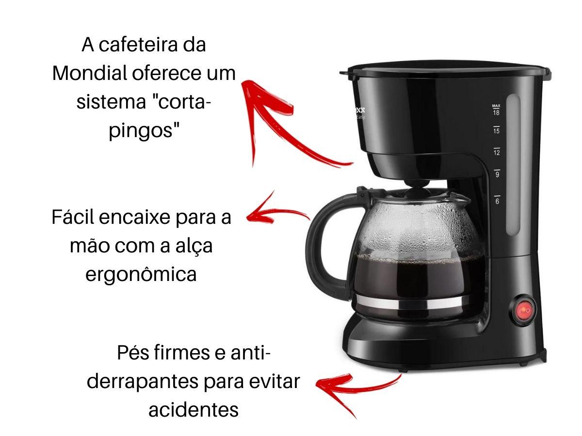 Cafeteira Elétrica Lenoxx Pca-018 Eazy 18 Xícaras
