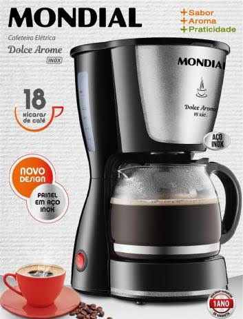 Cafeteira Elétrica Mondial C-30 Dolce Arome Preta Luxo