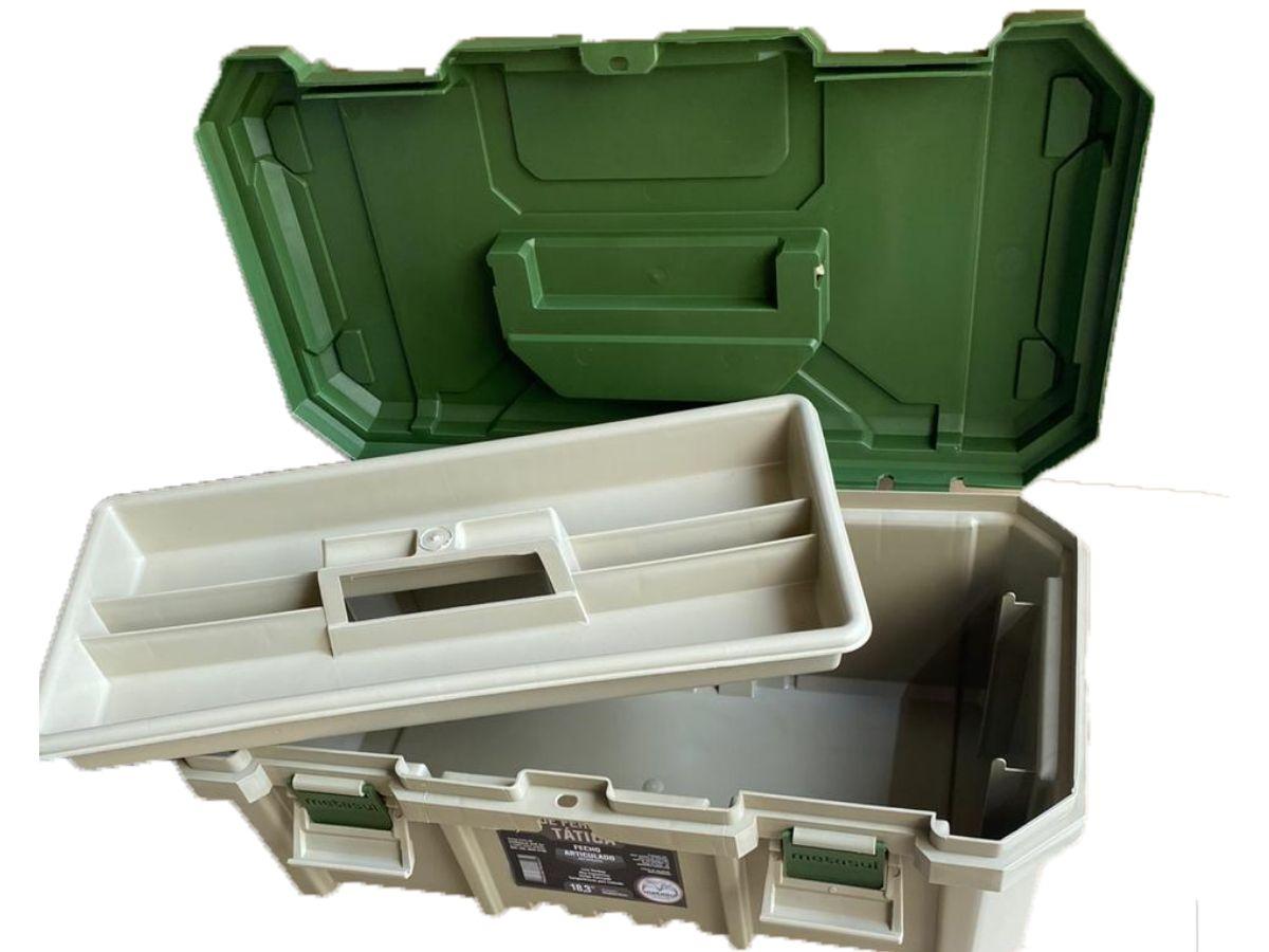 Caixa De Ferramentas 18,3 Pol. Metasul Tática + Cadeado 25mm