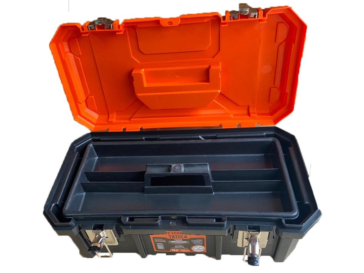 Caixa De Ferramentas Metasul Tática C/ Fecho Metálico + Cadeado 25mm