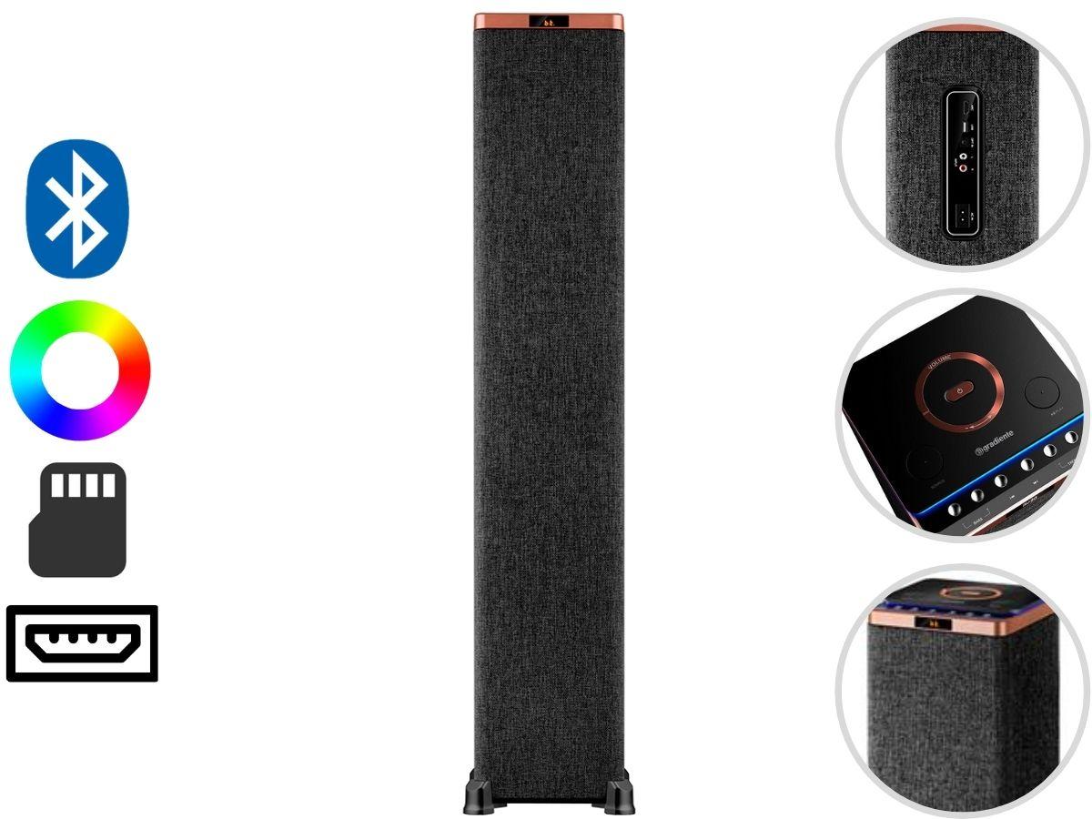Caixa De Som Amplificada  Gradiente GST-107 1000w Bluetooth