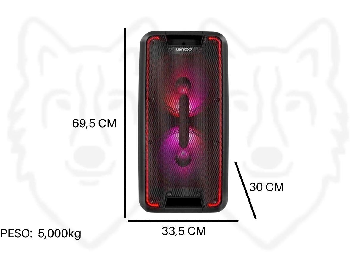 Caixa de Som Amplificada Lenoxx CA-360 600rms Bluetooth