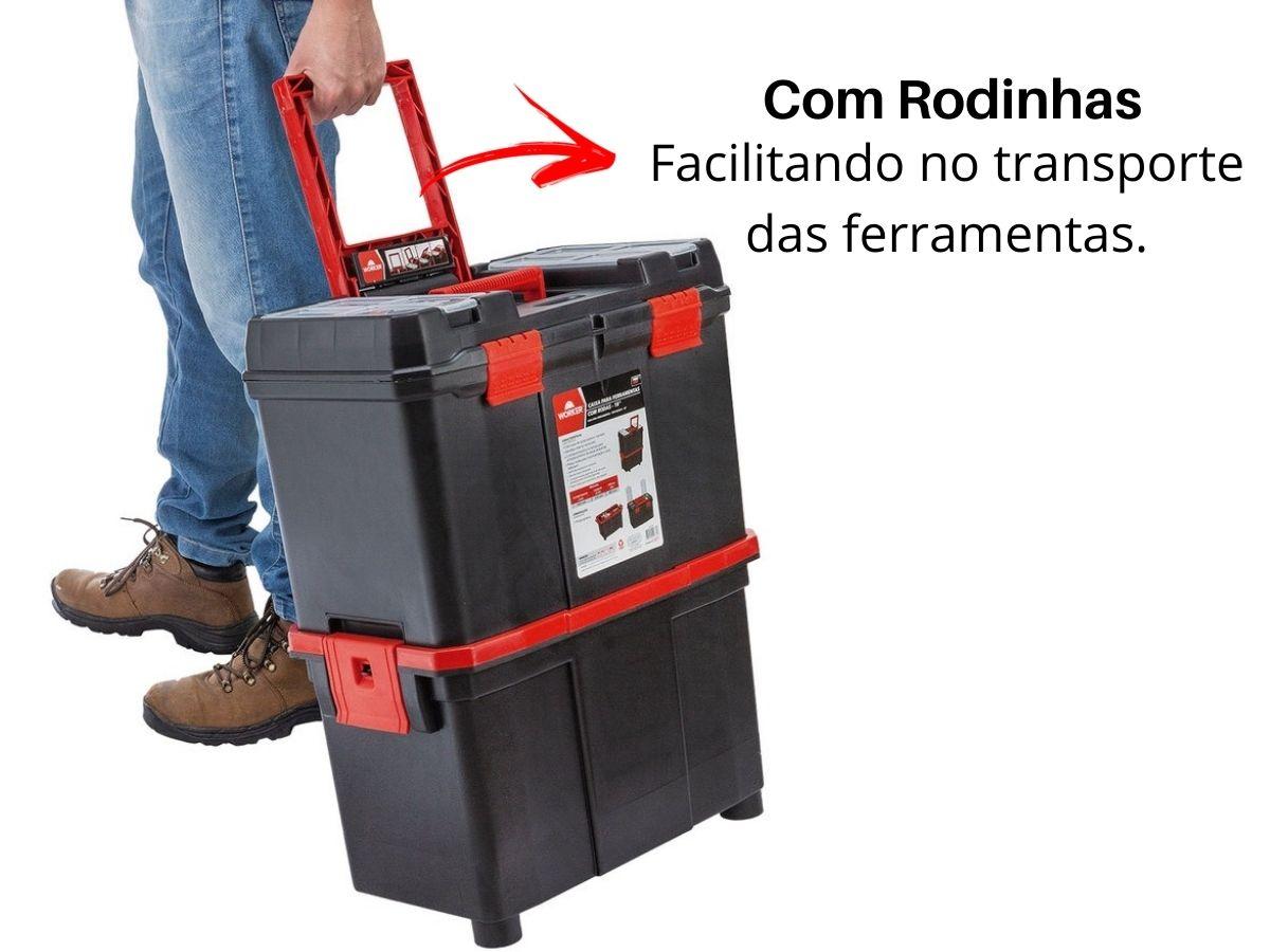 Caixa Para Ferramentas Com Rodas 18 Pol. Worker 940798
