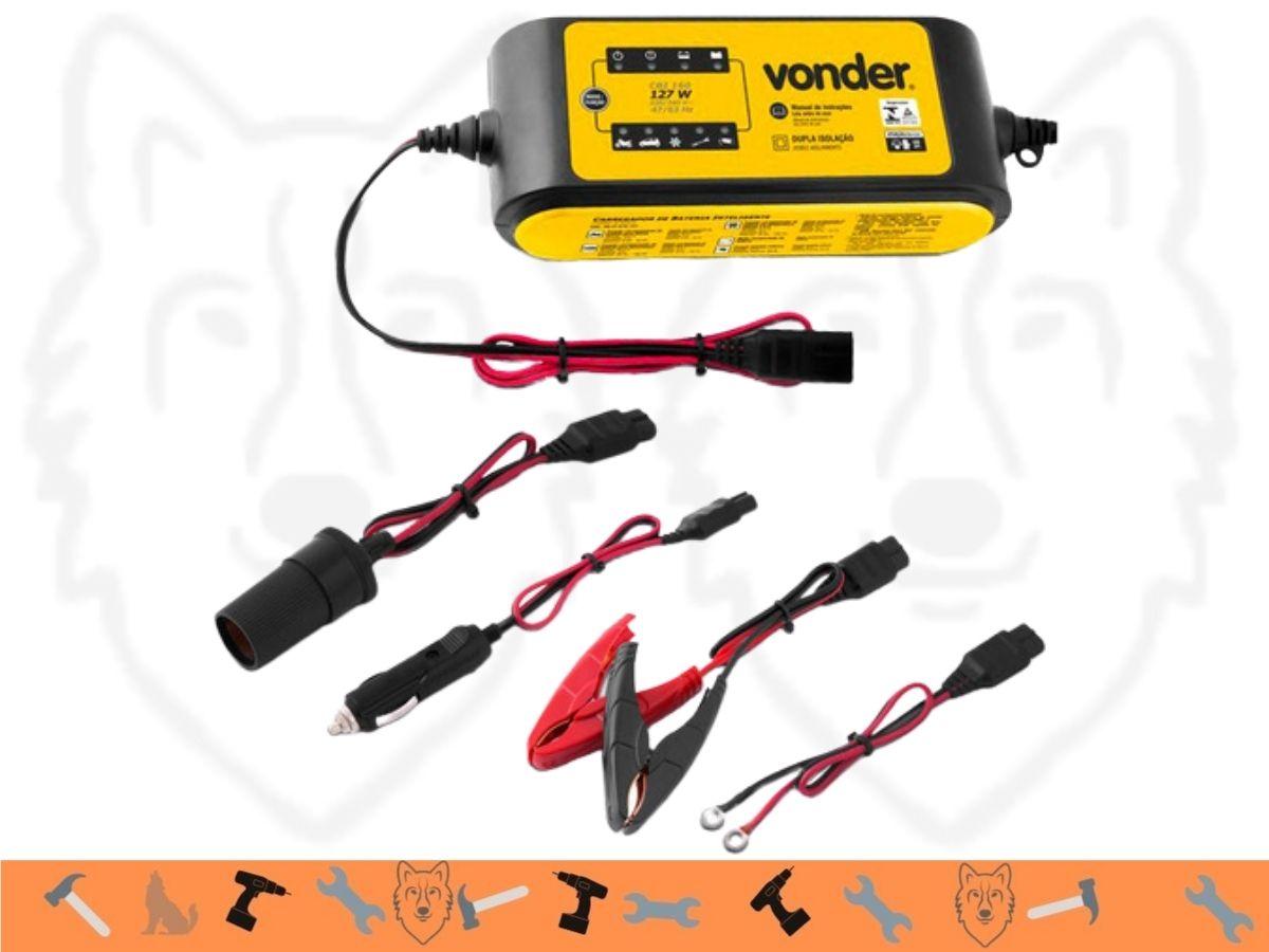 Carregador de Bateria Inteligente 12v Vonder Cib 160 Dupla Isolação