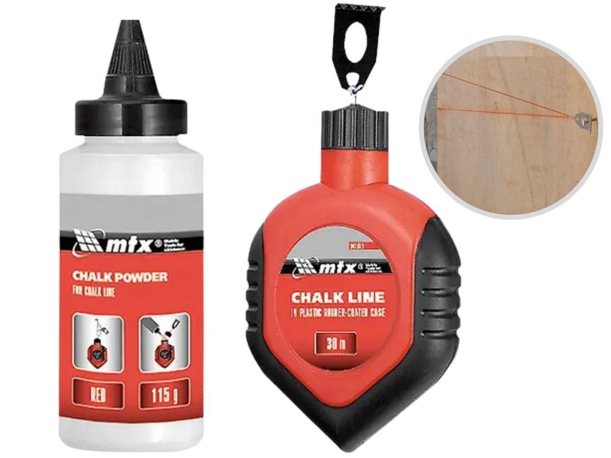 Carretel De Linha Para Drywall MTX 848559 Giz Vermelho
