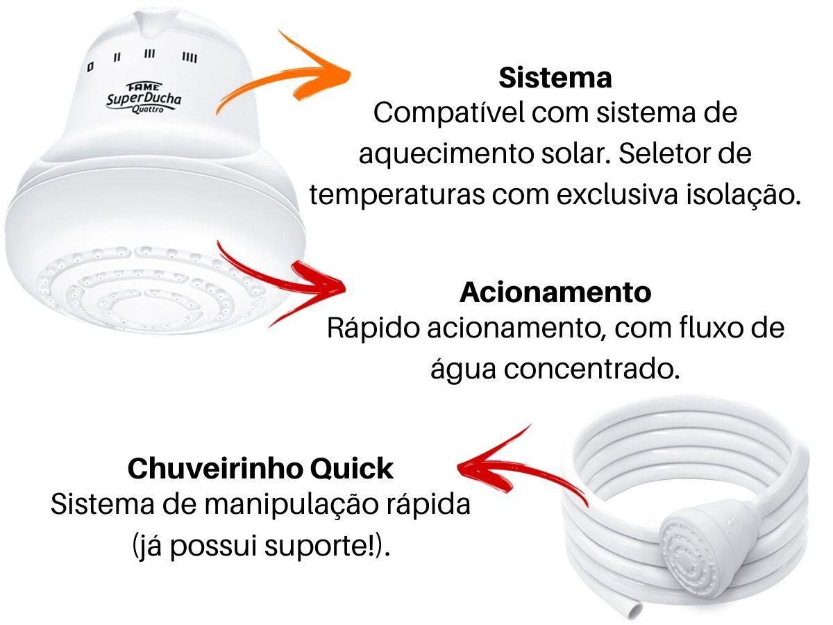 Chuveiro Ducha Fame Super Quattro 4T 6800w