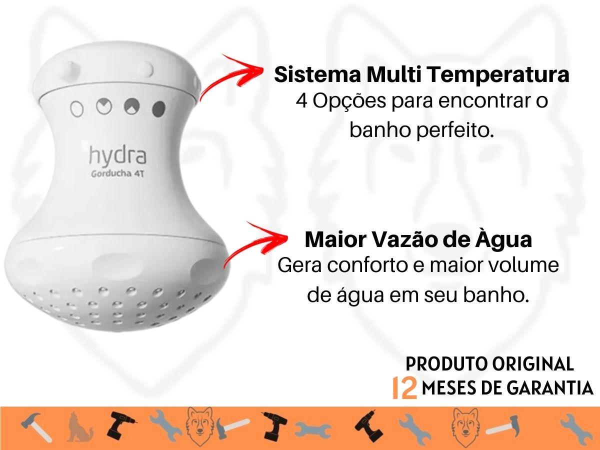Chuveiro Ducha Hydra Gorducha 4T Multitemperatura