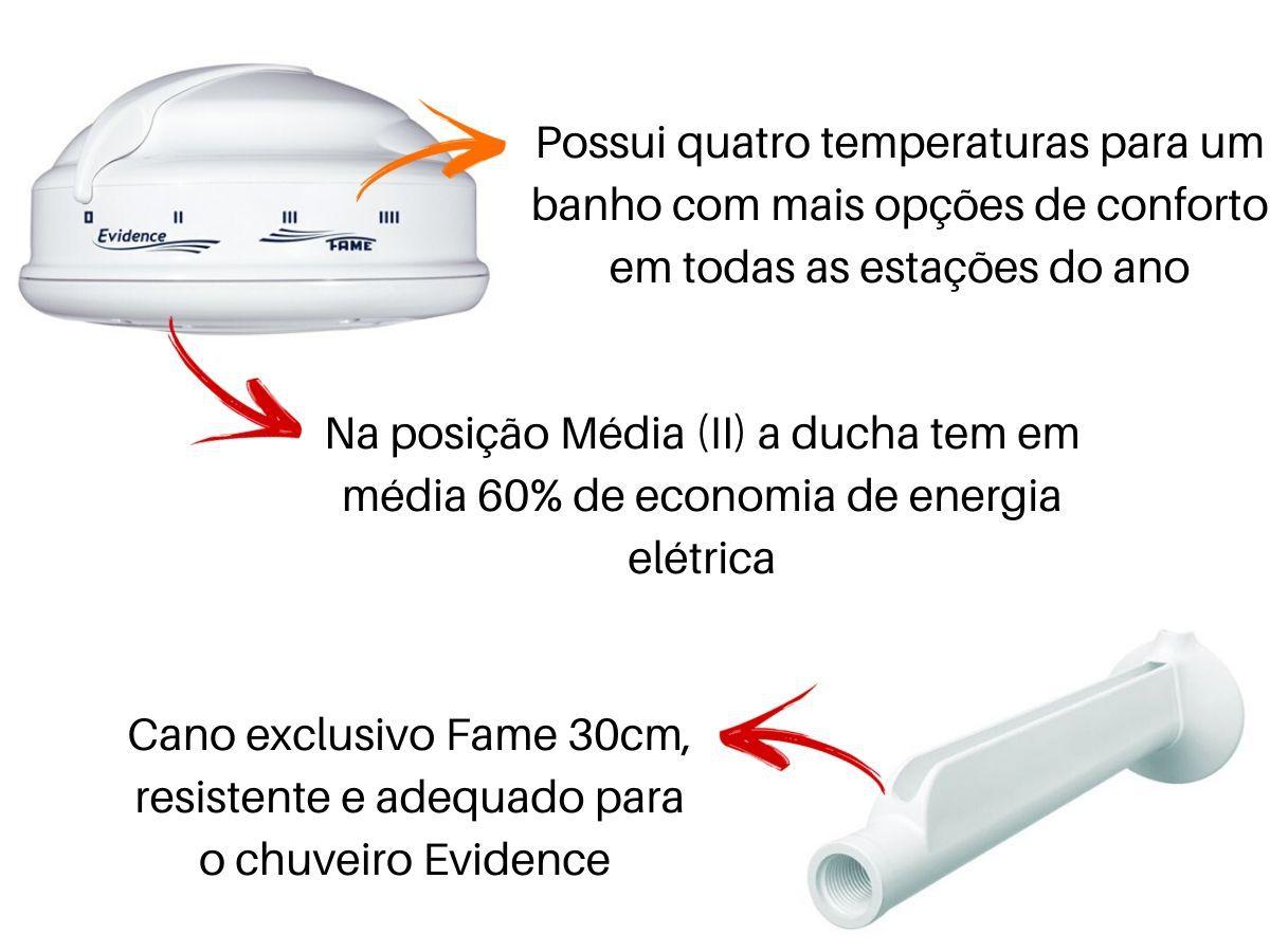 Chuveiro Ducha Fame Evidence 4 Temperaturas Com Chuveirinho