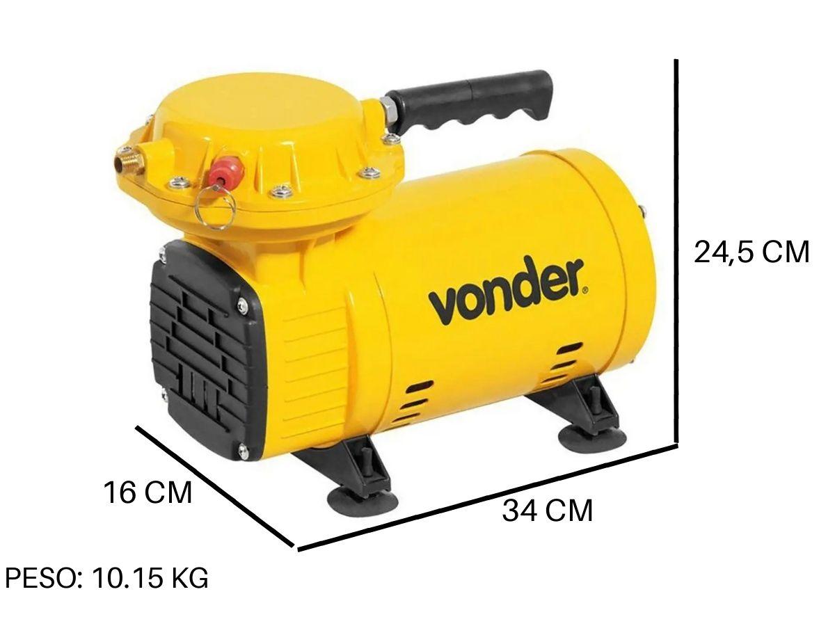 Compressor De Ar Direto 1/2 Hp Vonder 2,3 pcm Com Acessórios