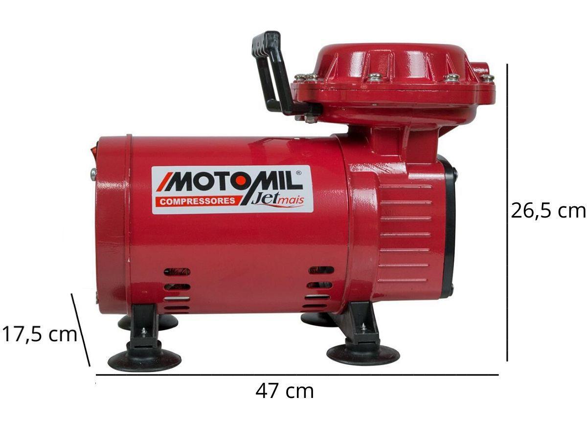 Compressor De Ar 1/3Hp Jetmil 2,3pes Com Acessórios Bivolt