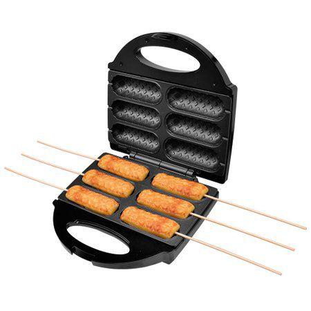 Crepeira Elétrica Mondial Cp-01 Pratic Crepe & Hot Dog Preto Inox