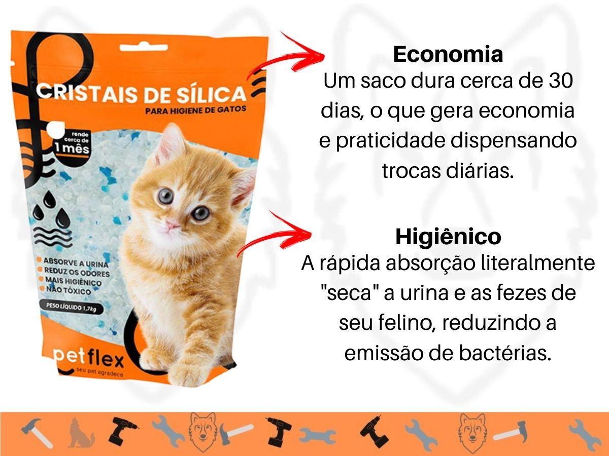 Cristais de Sílica Para Gatos Pet Flex FXP-2005 1,5 Kg