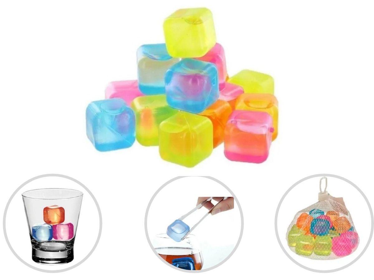 Cubos De Gelo Plástico Show House TZ8103 Coloridos