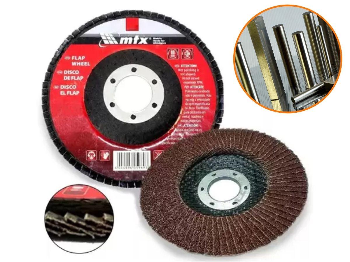 Disco Flap Abrasivo De Lixa MTX 115mm x 22mm