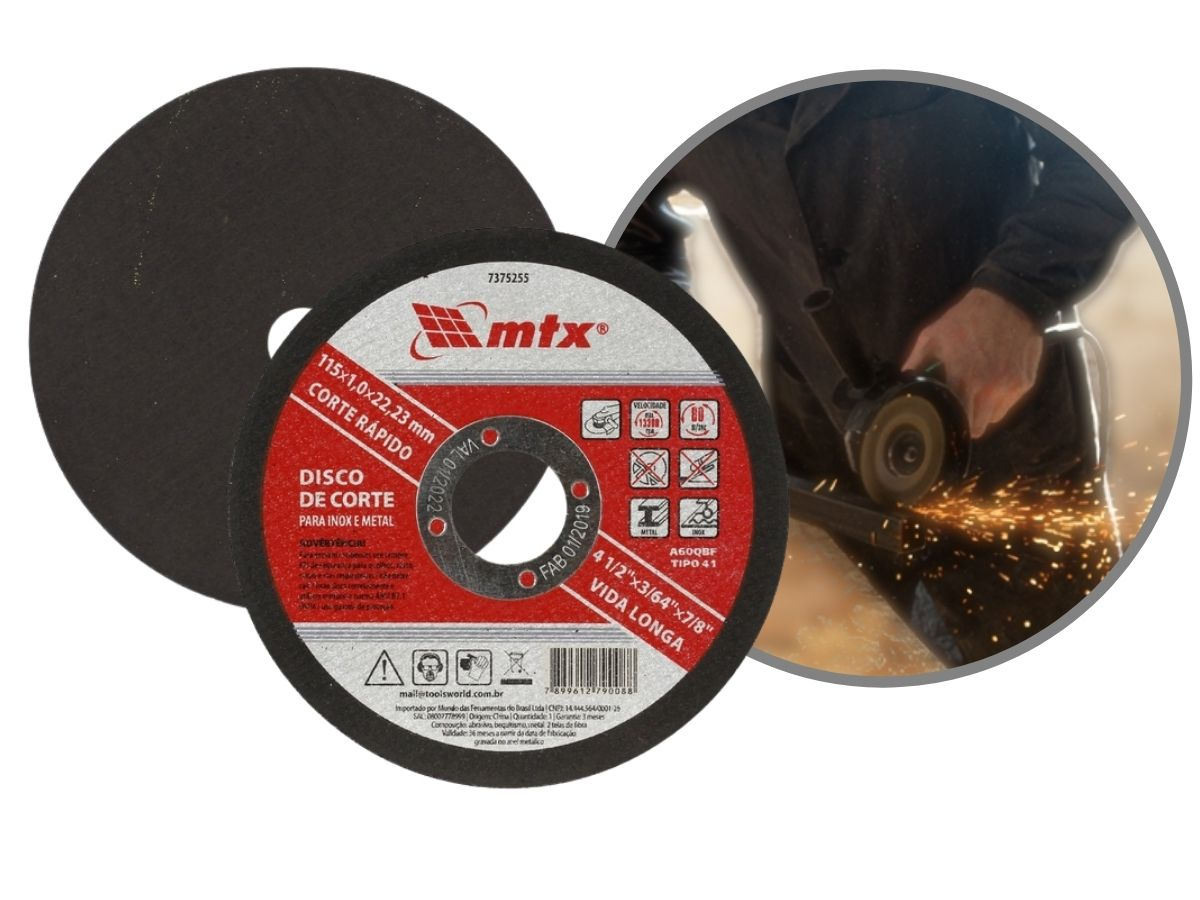 Disco De Corte 4.1/2 Pol.115mm Mtx 7432655 Metal