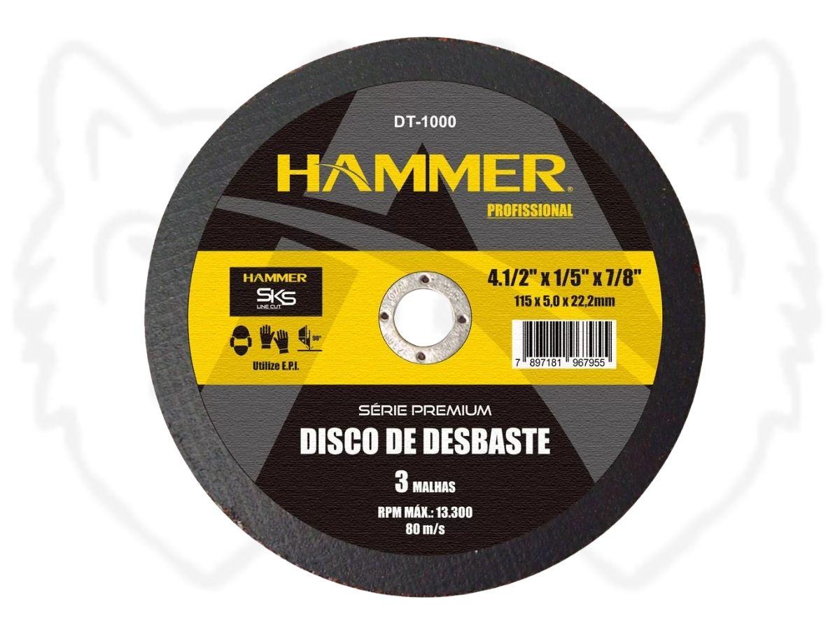"Disco de Desbaste Hammer DT-1000 Profissional 4.1/2"""