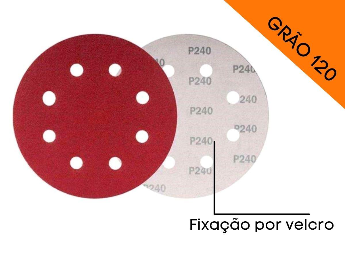 Disco De Lixa Com Velcro Perfurado 125mm Grão 120 Mtx 738069