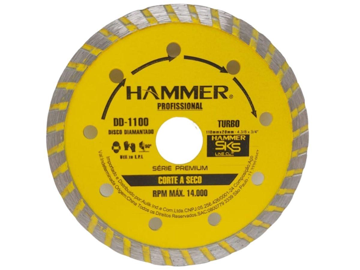 "Disco Diamantado Turbo Hammer DD-1100 110X20mm 4"""