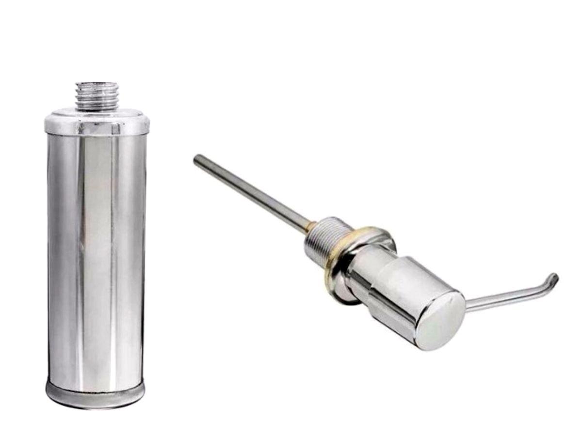 Dosador De Detergente Inox De Bancada 250 ML Globalmix GH050