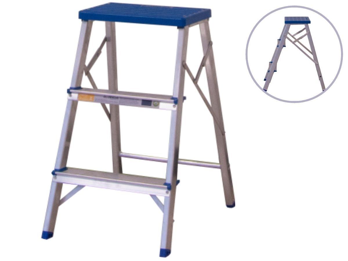 Escada Banqueta De Alumínio Alumasa 968631 3 Degraus