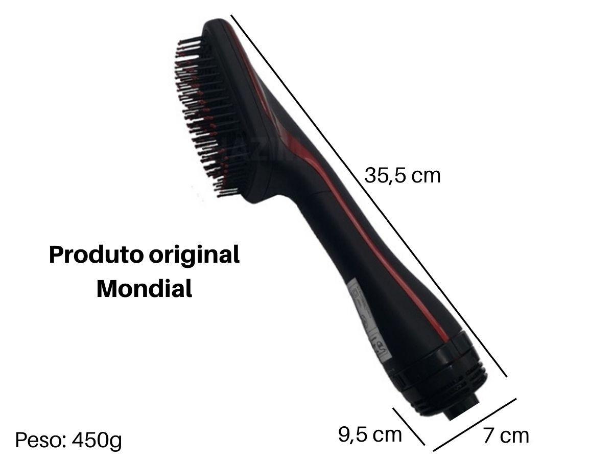 Escova Alisadora Mondial ES-01 1200w Preta/Vermelha