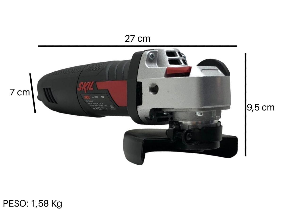 Esmerilhadeira Angular 700w Skil 9002 115mm