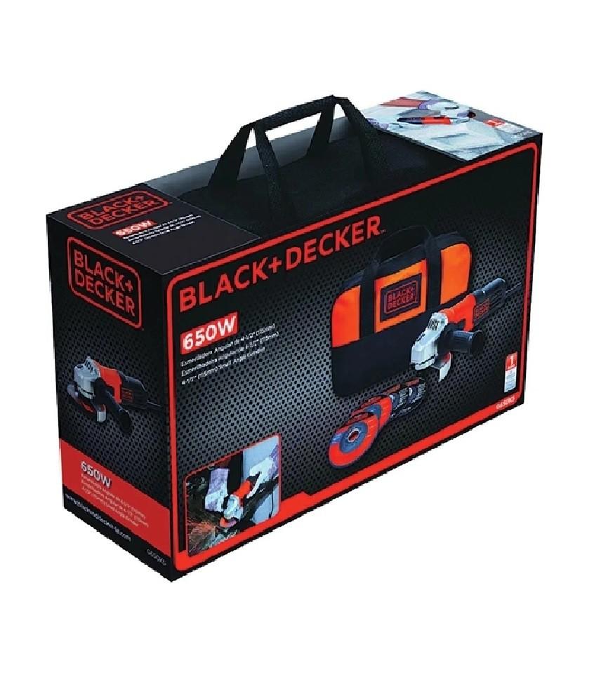 Esmerilhadeira Angular 650w Black e Decker G650K5 Com Bolsa e Acessórios