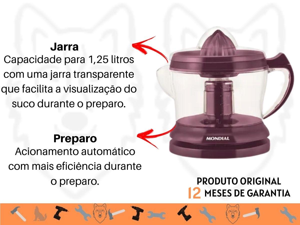 Espremedor De Frutas Mondial E-30 Marsala 30w Roxo
