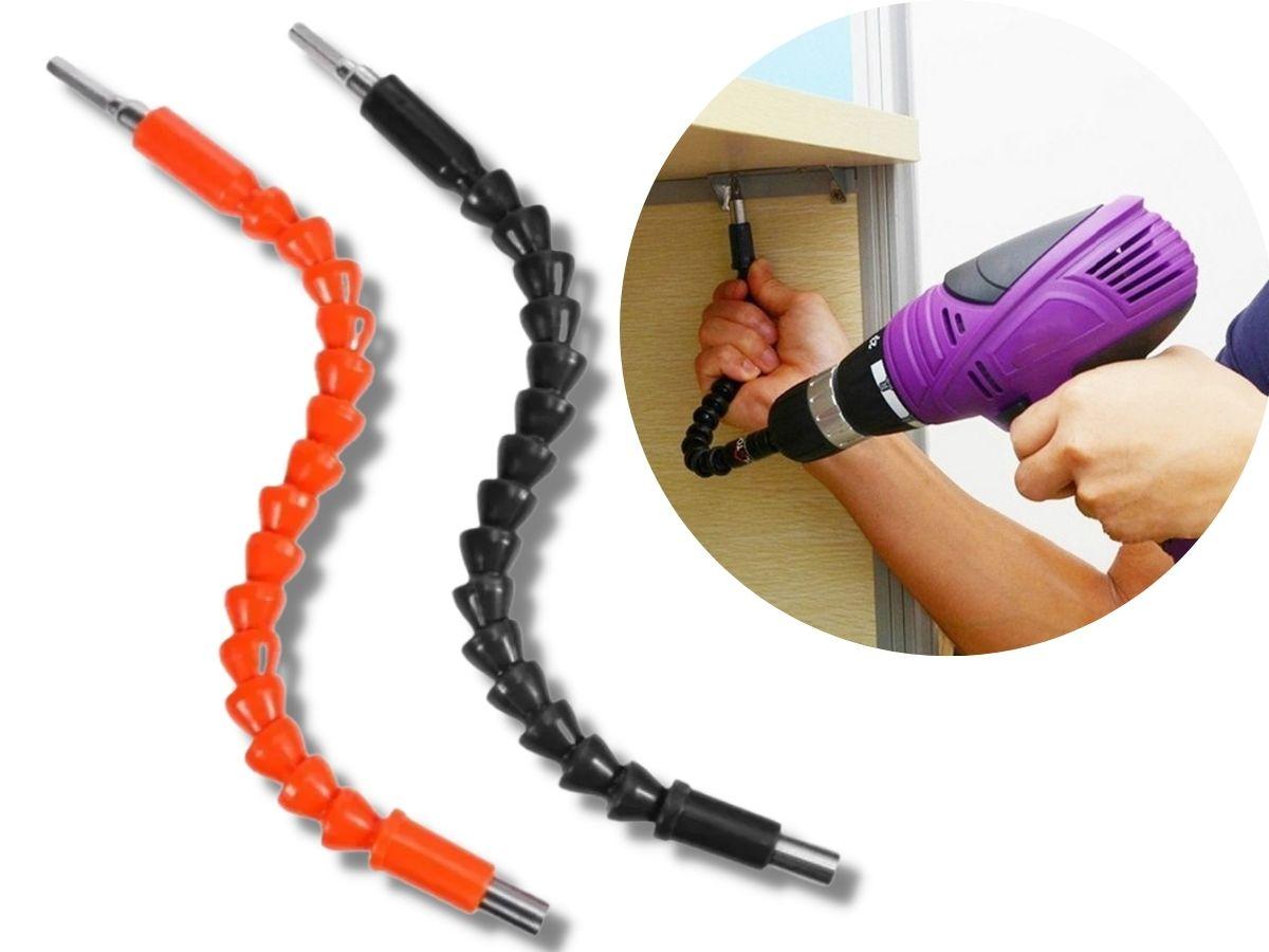Extensão Haste Flexível Magnética P/ Parafusadeira 1/4 Pol.