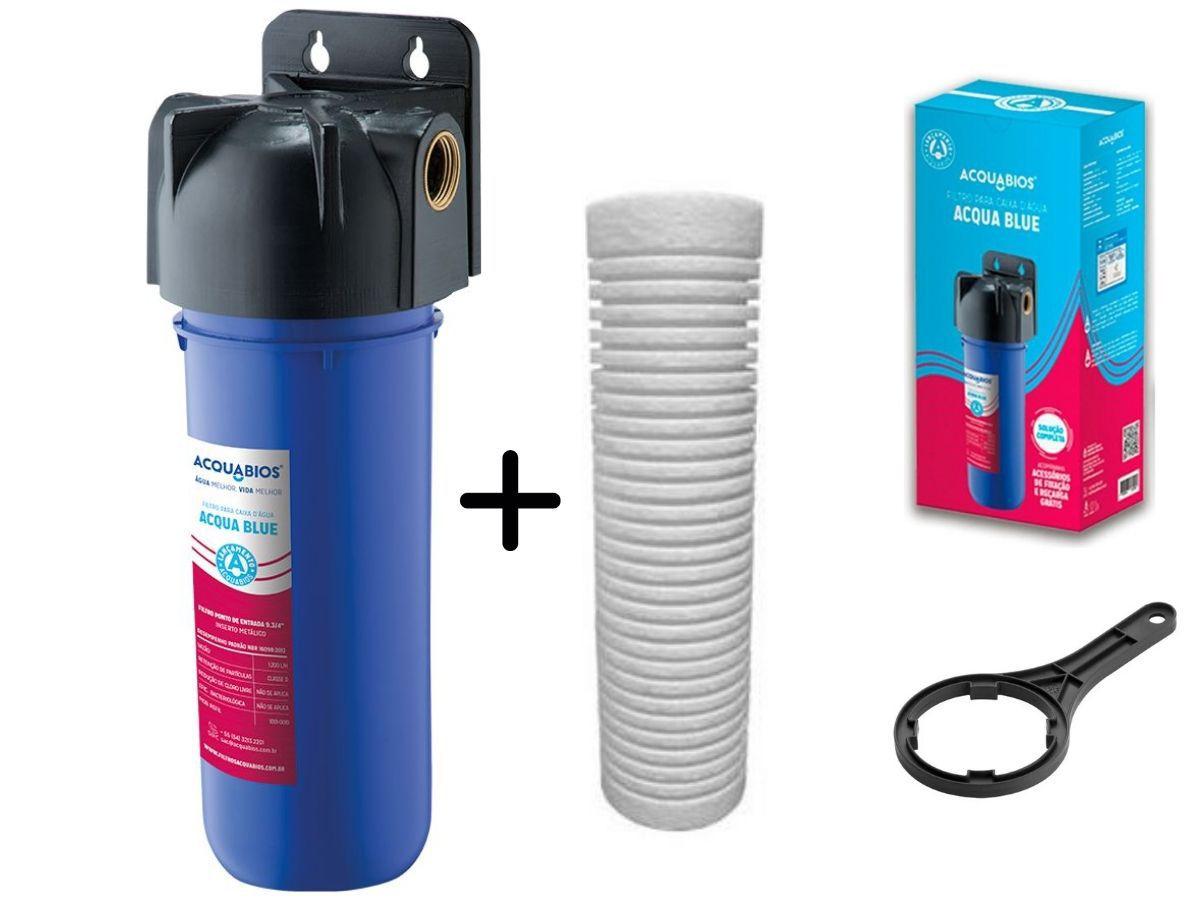 Filtro De Água Acqua Blue Para Caixas D'Água Com Refil Extra