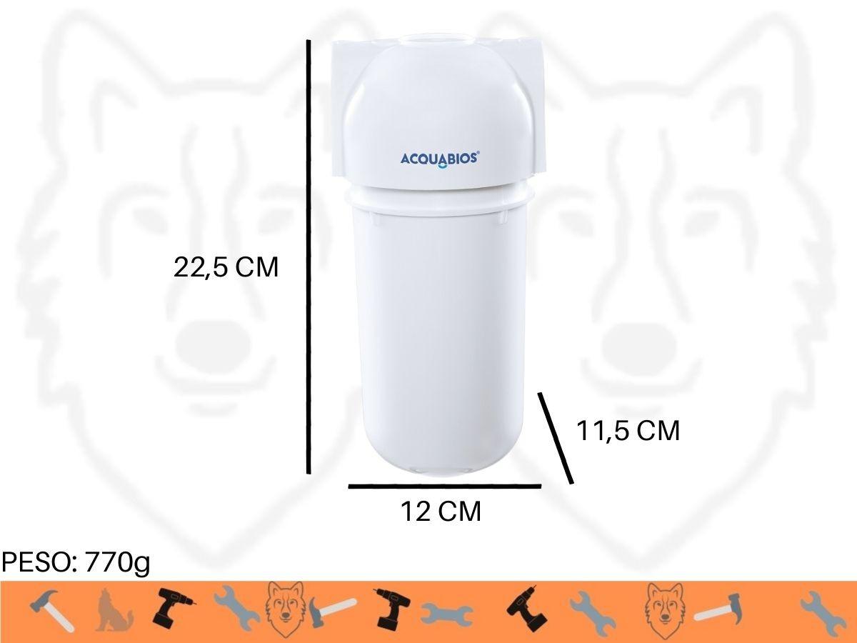 Filtro P/ Toneiras Máquinas E Pontos De Uso Acquabios Acqua 200 90 L/h (Ref. 2065)