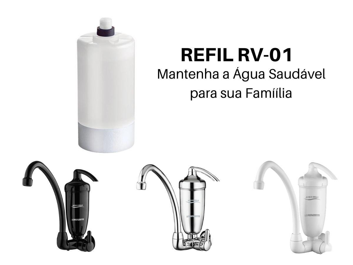 Filtro Refil Para Torneira Acqua Bella Lorenzetti RV-01