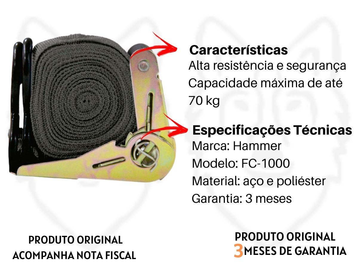 Fita Para Carga Hammer FC-1000 5M X 2,5 Cm
