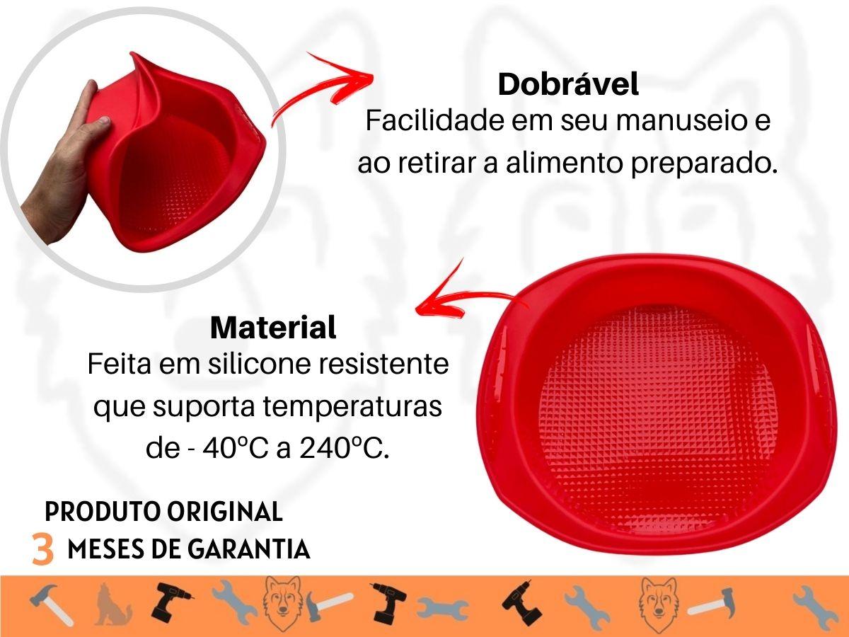 Forma Para Bolo Hauskraft SLCN-008VM Silicone Vermelha