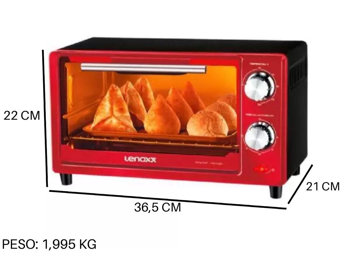 Forno Elétrico Lenoxx PFO-307 650w 9 Litros Vermelho