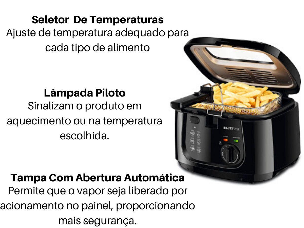 Fritadeira Elétrica Mondial Ft-07 Big Fry 2,5 Litros