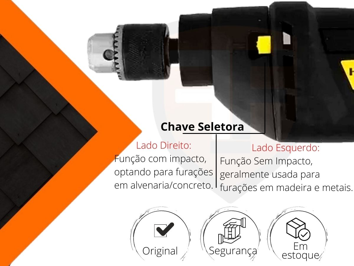 Furadeira De Impacto 550w 10mm Hammer Fi-1000