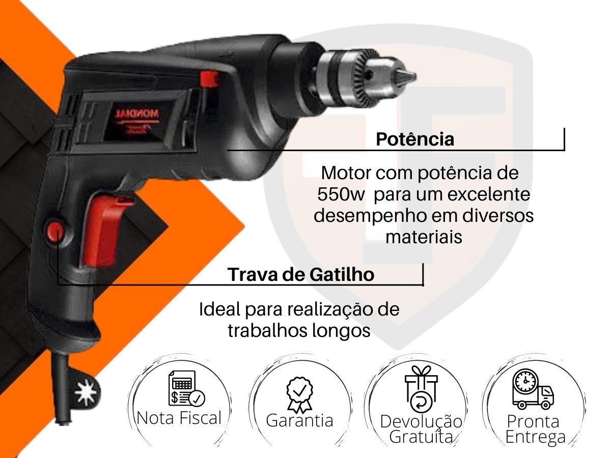 Furadeira De Impacto 550w 10mm Mondial Fi-09