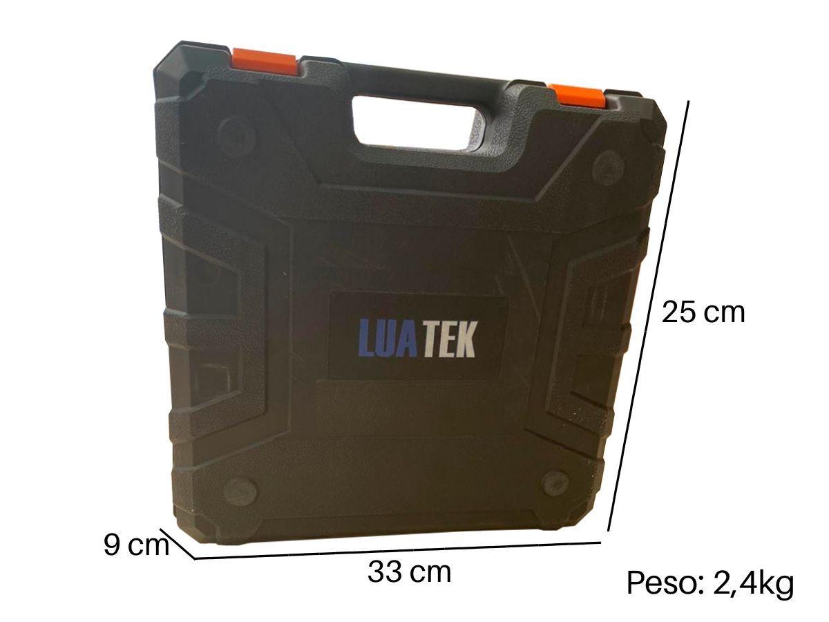 Parafusadeira Furadeira 21v Luatek Lwj-201 2 Baterias De Lítio Com Maleta